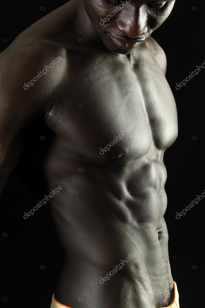 De Rost E Corpo Negro Musculoso