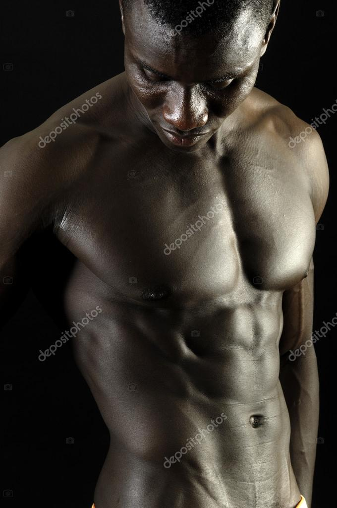 Festa Rost E Musculoso De Negro Corpo